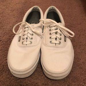 Authentic Vans in white